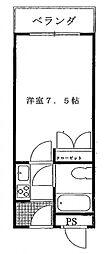 アーバンガーデン藤井寺[307号室号室]の間取り