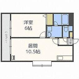 北海道札幌市東区北四十二条東1丁目の賃貸アパートの間取り