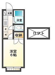 レモンシティ八幡[2階]の間取り