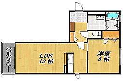 ラ・カーサ大濠[1階]の間取り