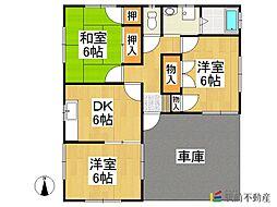 [一戸建] 福岡県八女市吉田 の賃貸【/】の間取り