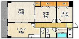 パークアベニュー藤ノ森[505号室]の間取り
