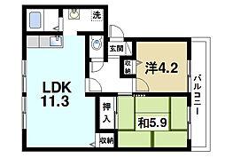 ノースサイドB[2階]の間取り