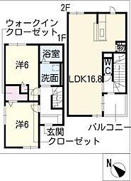 [タウンハウス] 三重県松阪市久保町 の賃貸【/】の間取り