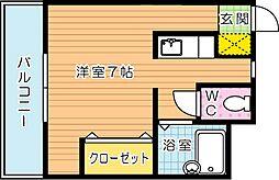 サンモリッツ小倉弐番館[201号室]の間取り