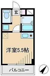 東京都北区田端4丁目の賃貸アパートの間取り