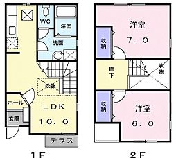 First Stage 2LDKの間取り