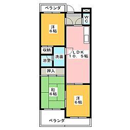 ビアメゾン竹越[2階]の間取り