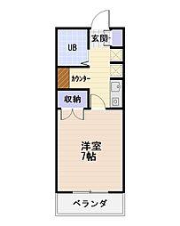 ハイツKOBA[2階]の間取り