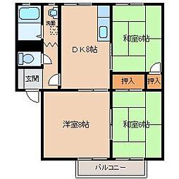 アミューズメントシティWING H[1階]の間取り