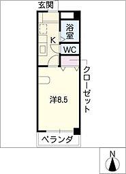ルピナスUMESATO[3階]の間取り