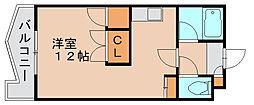レジデンスコア[4階]の間取り