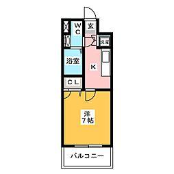 サヴォイザティファナ[5階]の間取り