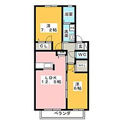 ソレイユN[2階]の間取り
