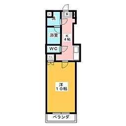 ディベロップハイツ[2階]の間取り