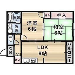 永楽シャトルマンション[3階]の間取り