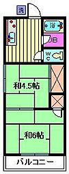 コーポ須賀[2階]の間取り