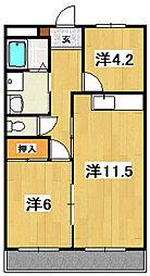 諏訪サンスーシ[2階]の間取り