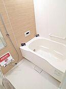 新規交換のスタイリッシュな浴室。