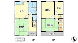 [一戸建] 兵庫県姫路市田寺8丁目 の賃貸【/】の間取り