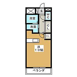 セカンドウィング[4階]の間取り