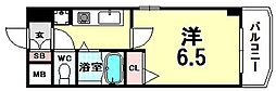 ホープシティー天神橋[A205号室]の間取り