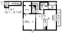 スプラッシュMY[2階]の間取り