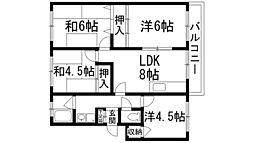 仁川マンション[5階]の間取り