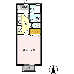 プレアンブルムコート[1階]の間取り