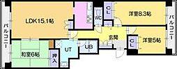 アイシティ若葉台A棟[12階]の間取り