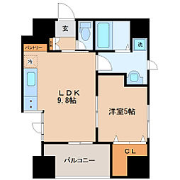 JR仙石線 陸前原ノ町駅 徒歩4分の賃貸マンション 8階1LDKの間取り