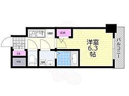 プロヴィスタ新大阪イーストゲート 2階1Kの間取り