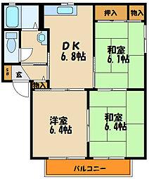 フレグランス橋本B棟[2階]の間取り