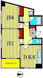 ヴィラ十文字II[3階]の間取り