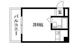 ロイヤル夙川[306号室]の間取り