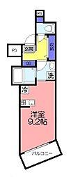 ツリーデン綾瀬 3階ワンルームの間取り