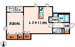ディアグラナート[3階]の間取り