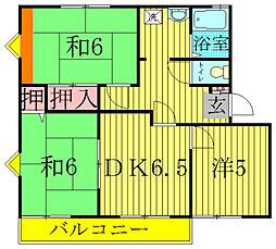 メゾン旭B[2階]の間取り