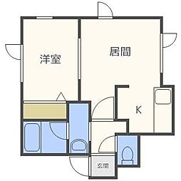 エイコーハイツ麻生[2階]の間取り
