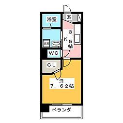 カサ・セグーラ田町[1階]の間取り