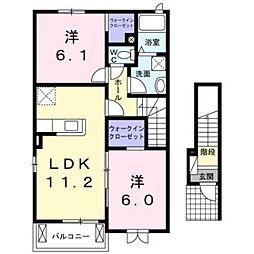 サリュー IV[2階]の間取り
