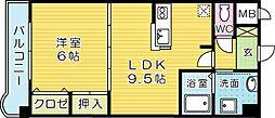 サンライズK[1階]の間取り