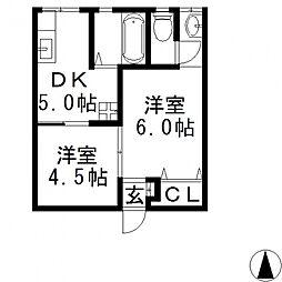 マンション静(しずか)[110号室号室]の間取り