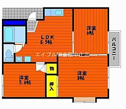 コーポ山陽 C棟[1階]の間取り