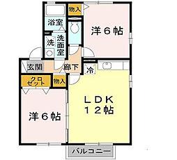 ロイヤル倉治 B棟[2階]の間取り