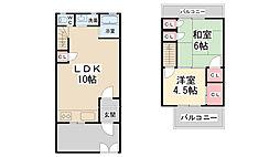 [テラスハウス] 兵庫県川西市新田1丁目 の賃貸【兵庫県 / 川西市】の間取り