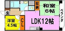 上野坂ハイツ[2階]の間取り