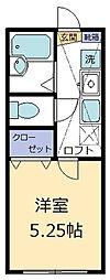 SKY VILLAGE[203号室]の間取り