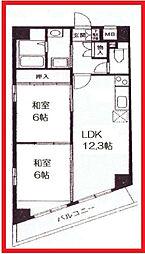 東京都台東区浅草7丁目の賃貸マンションの間取り