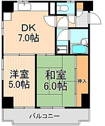 ウエストハイツ浅草[5階]の間取り